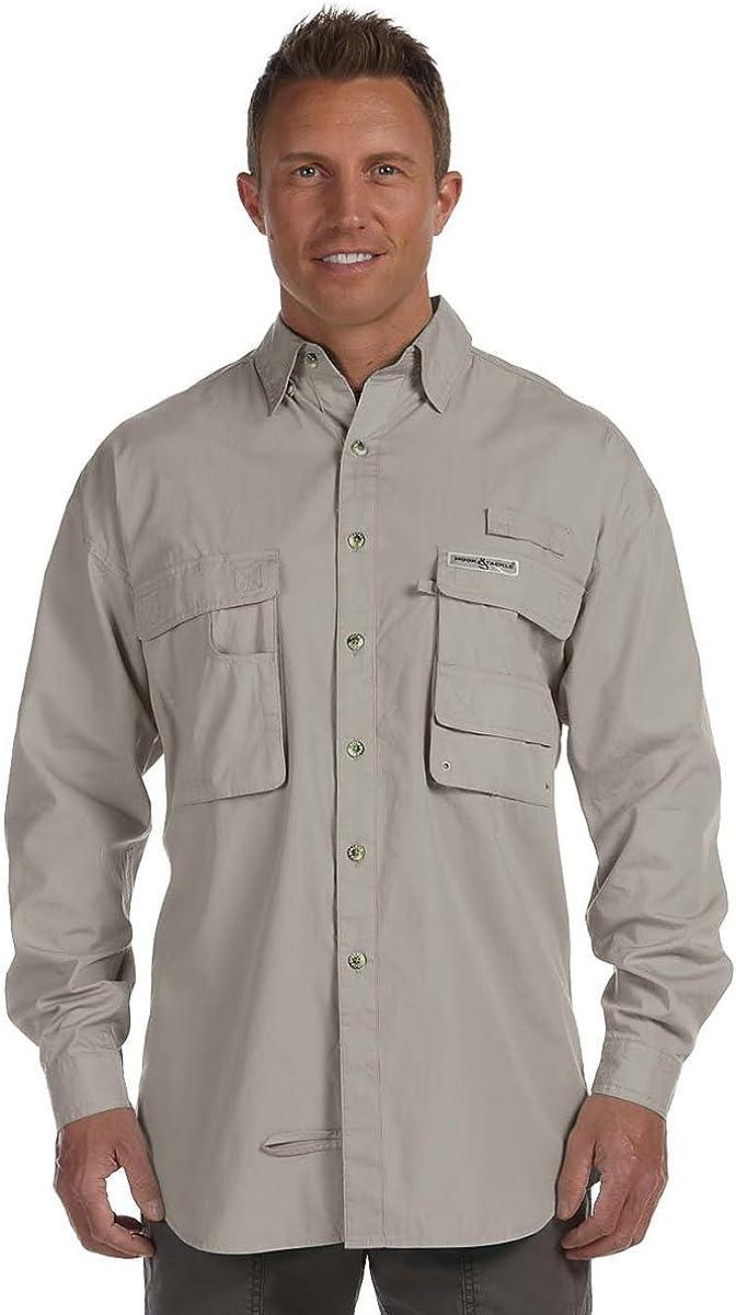 Hook & Tackle Gulf Stream 1013L Camisa de pesca para hombres de manga larga, Hombre, color arena, tamaño X-Large