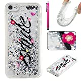 iPod Touch 6 Case, Firefish Slim Sparkle Shock Absorption Slim Bumper Cover Anti-Slip Soft Silicone Protective Skin for Girls Children Fits for Apple iPod Touch 6 -Smile