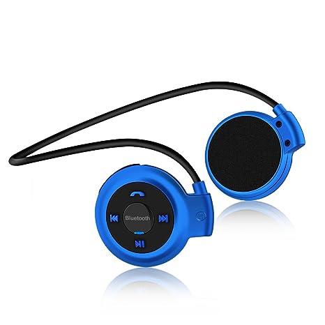 Vemont Auriculares Bluetooth Deporte V4.1 Auriculares Bluetooth inalámbrico Rádio FM con micrófono para correr