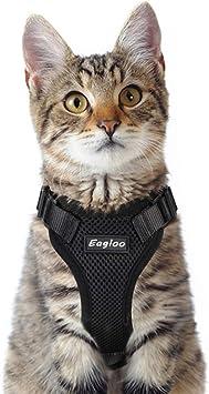 Amazon.com: Eagloo Arnés para gato a prueba de escape, arnés ...