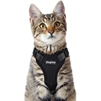 Eagloo Cat Harness Escape Proof Small Cat and Dog Harness Soft Mesh Harness Adjustable Cat…