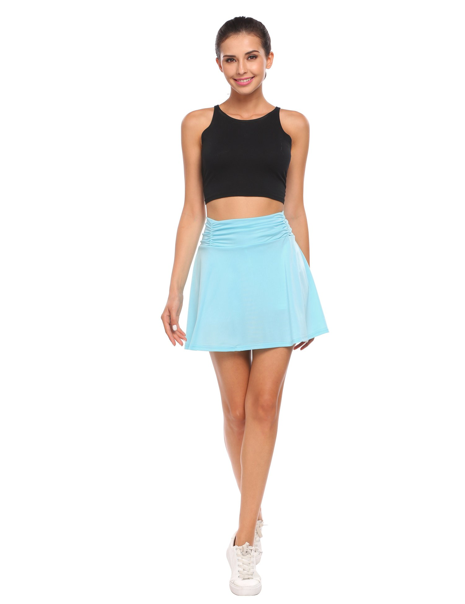 ANGVNS Ladies Active Fitness Athletic Skirt with Skort for Gym Tennis Golf