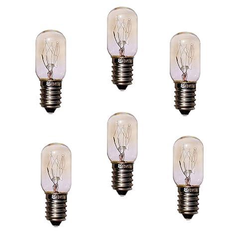 JINYU Pack 6 unidades bombillas nocturna para Lampara de Sal del ...