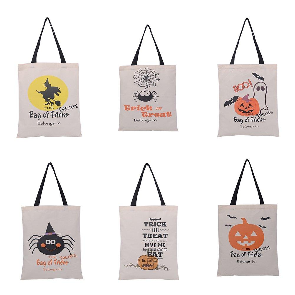 品質保証 熱望Bulksaleハロウィーン再利用可能なトートバッグ耐久性のあるキャンバストリックオアトリートショッピングバッグギフト収納 B071VV1H78 - 色込 色込 かぼちゃ|60 B071VV1H78 かぼちゃ かぼちゃ|60, 木の香-woody shop-:bd6a0a8a --- umniysvet.ru