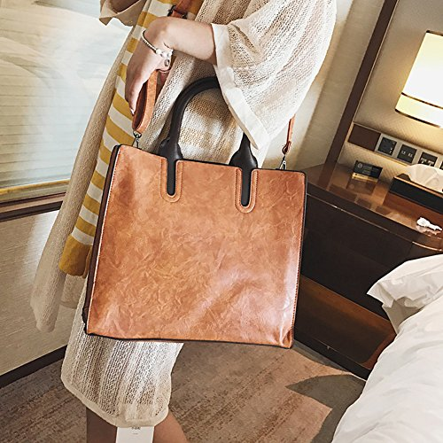 Crossbody High Bags Handbag Bags Handbags Capacity For Retro Brown Package Shoulder Girls Simple Business Women Professional CqP0nx