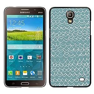 // PHONE CASE GIFT // Duro Estuche protector PC Cáscara Plástico Carcasa Funda Hard Protective Case for Samsung Galaxy Mega 2 / Waves Pattern Art Blue White Modern /