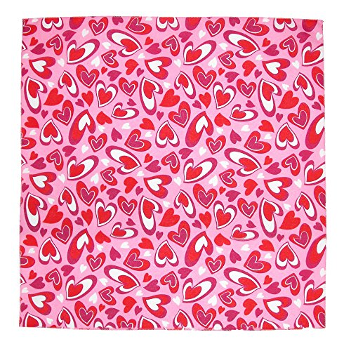 (CTM Heartfelt Valentines Day Bandana, Pink)