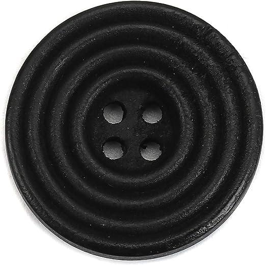 Sadingo - Botones de Madera Negros, para Manualidades, 25 mm, 30 Unidades, Botones Cuadrados para Coser, Botones Grandes, Color Negro: Amazon.es: Hogar