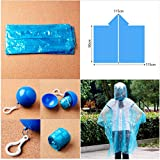 Yumian Disposable, 5/10/20Pcs Disposable Emergency Waterproof Hood Raincoat Rain Jacket Poncho Ball (5)