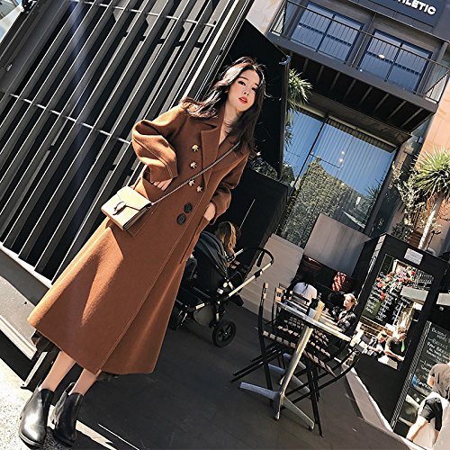Wool Slim Section Coat Of Autumn Winter Xuanku ArmyGreen Coat A Texture Was Thin Of Female And Long Hpnxx4