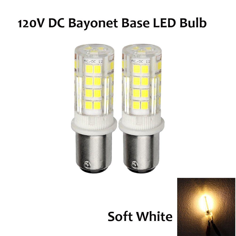 Replace 35 Watt Hlaogne JD Type T3//T4 Bulb Ashia Light Ashialight Ba15d LED Bulb,120 Volt,DC Bayoent Base,Soft White Pack of 2 Double Contact