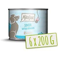 MjAMjAM - Pienso acuoso para Cachorros - Comida para Cachorros, con Pollo jugoso y Huevo - Natural - 6 x 200 g