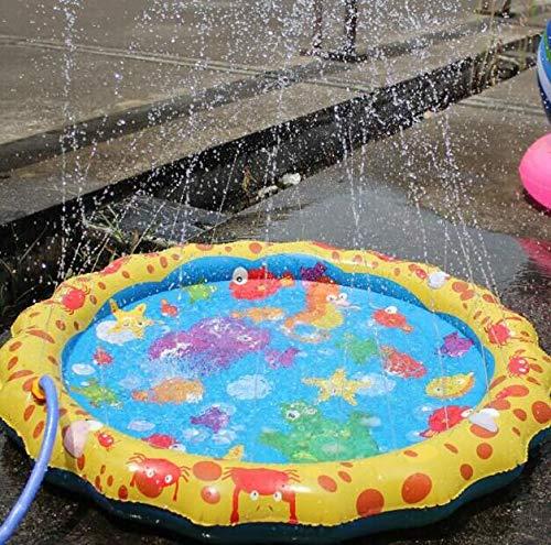 ウォータースプレーパッド アウトドアインフレータブル インフレータブルウォータージェット夏の子供の屋外遊び 親子の水遊び   B07GCJ3P3P