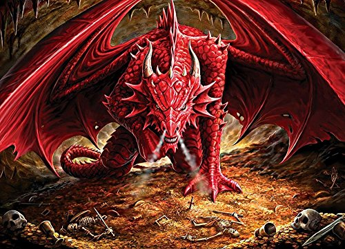 Cobble Hill Dragon's Lair Jigsaw Puzzle, 1000-Piece (Modular 1000 (1000 Piece Puzzles Gothic)