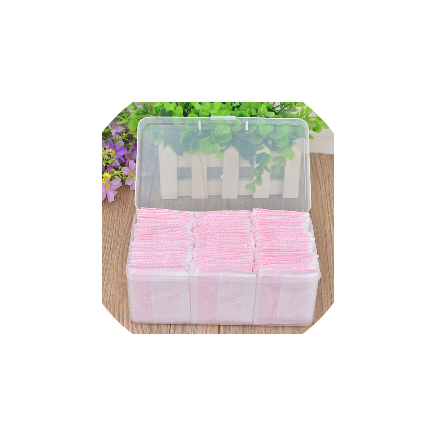 fantasticlife06 Pink Makeup Remover Face Cotton Pads 120Pcs/Set Women Makeup Wipe Cotton Pads Beauty Cosmetic Nail Polish Cleaning Pads