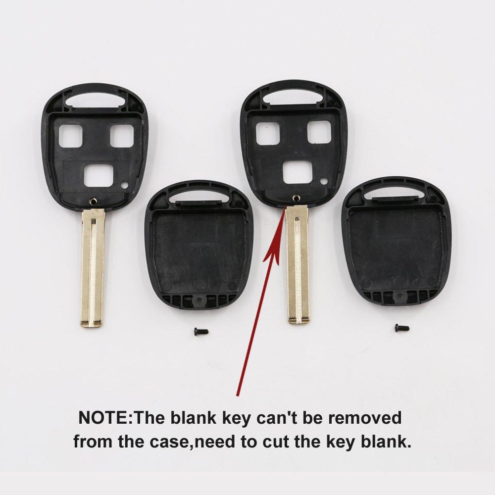 Amazon.com: utsauto Reemplazo para Lexus llave mando a ...