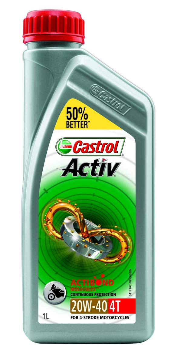 castrol activ 4t 20w 40 petrol engine oil for bikes 1 l amazon in