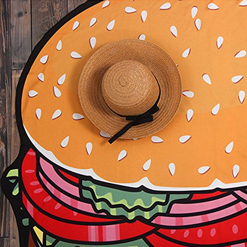Amazon.com: OUYAWEI Creative Round 3D Cute Food Pattern Printed Beach Towel Multi-Purpose Chiffon Towel Sunscreen Shawl Scarf (Donut Chiffon): Clothing