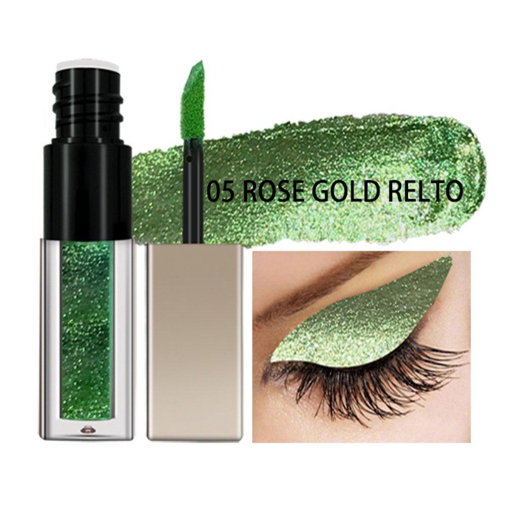 ROMANTIC BEAR Metal shimmer Liquid Eyeshadow, Long-lasting Glitter Eye Shadow Liquid Shimmer Stick Beauty Cosmetic (Ballet baby)