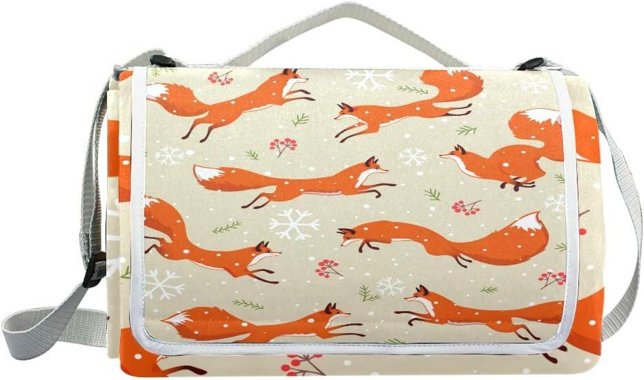XINGAKA Coperta da Picnic Tappetino Campeggio,Bello Fondo Senza Cuciture del Modello di Vettore botanico,Giardino Spiaggia Impermeabile Anti Sabbia 1