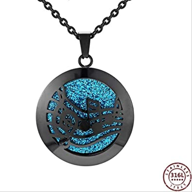 Medallones Acero Inoxidable Aceite Esencial Difusor Caja Collar ...