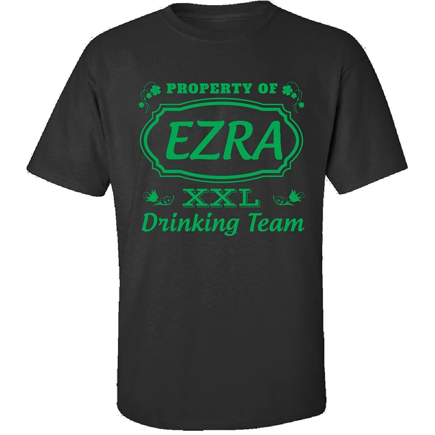 Property Of Ezra St Patrick Day Beer Drinking Team - Adult Shirt