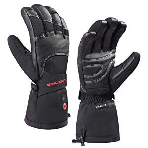 Smilodon Heated Gloves for Men Women, Battery Operated, Rechargeable, Electric Heating Ski Gloves, for Raynaud's Arthritis Hands
