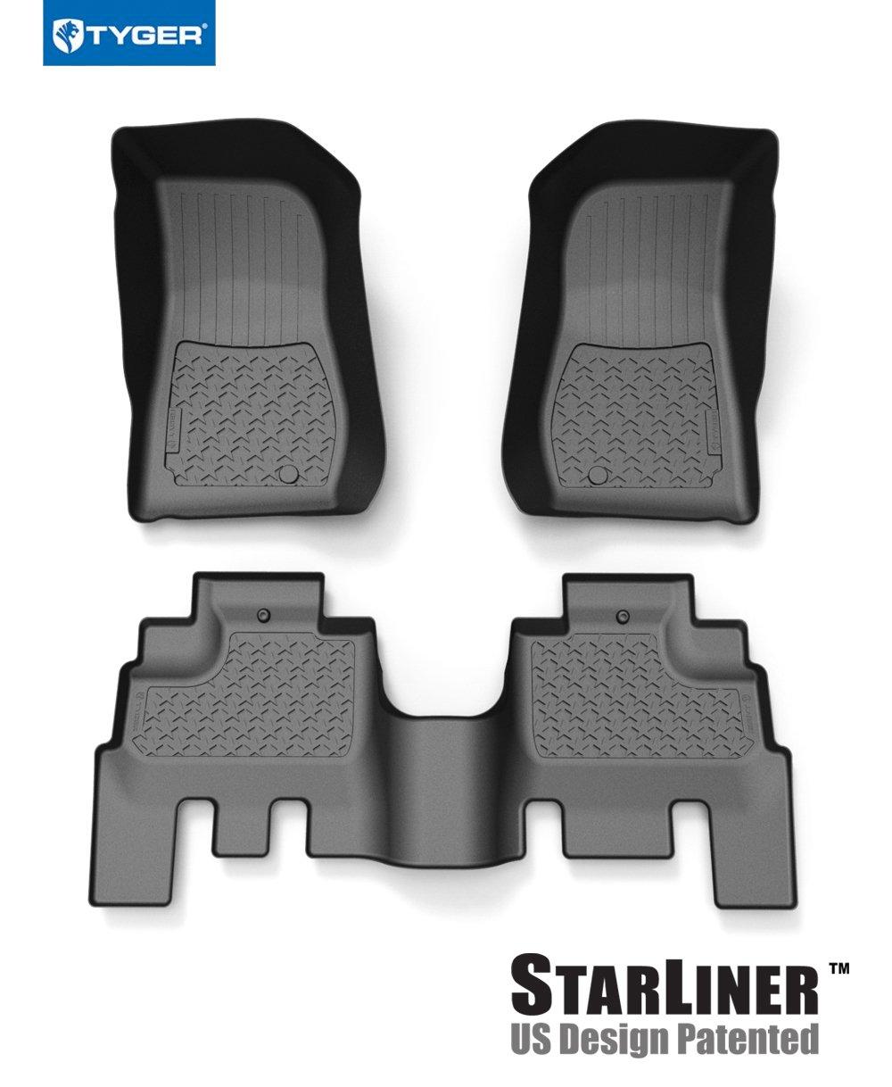 Tyger Auto Floor Liner 2014-2018 Jeep Wrangler JK 4-Door Floor Liners  