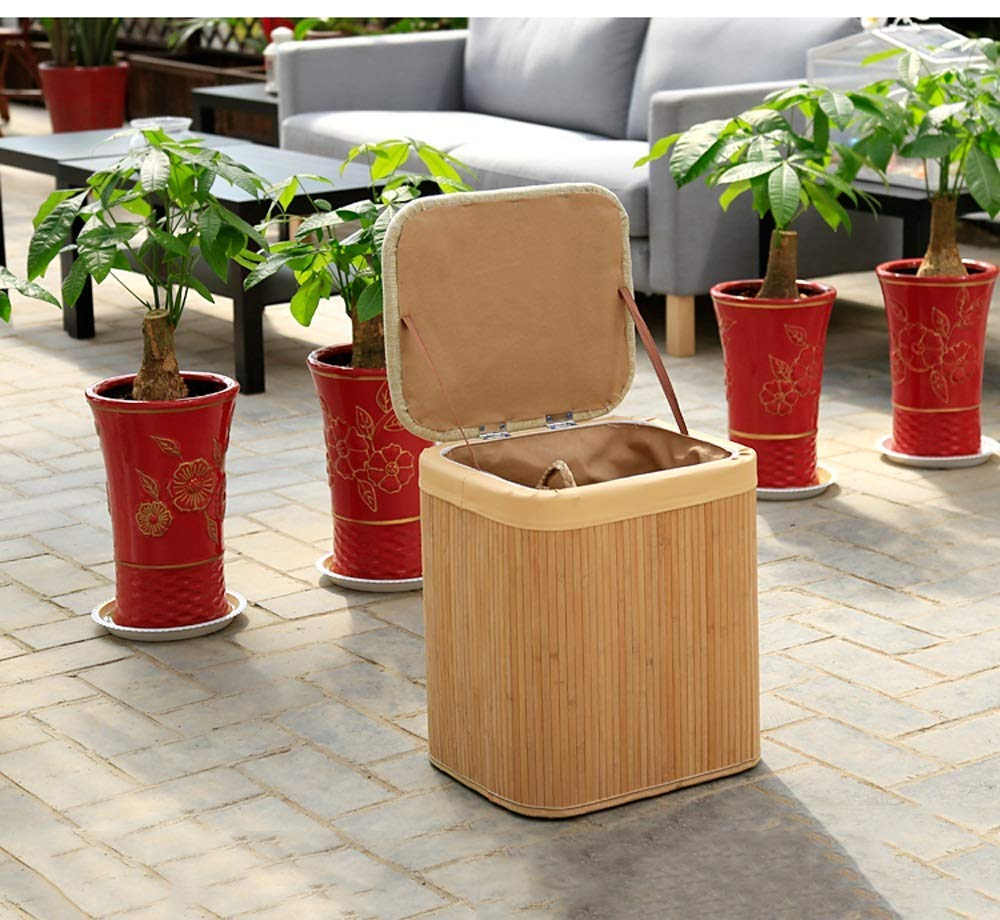 piccola seduta rettangolare 30 * 26 * 38 cm divano multifunzionale Panca per panchina rettangolare di bamb/ù 40 * 34 * 45 cm Sgabello per la conservazione della casa studio di soggiorno disponibi