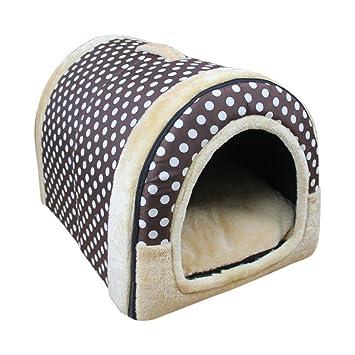 XCXpj - Cama de iglú Antideslizante para Mascotas (Tamaño Mediano), Color Marrón: Amazon.es: Productos para mascotas