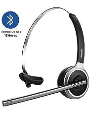 Mpow Auriculares de Diadema Bluetooth 4.1 Inalámbricos con Micrófono Externo 13 Horas de Conversación Ligero Manos Cancelación de Ruido para Llamdas Conductores Centro de Atención Telefónica Oficina