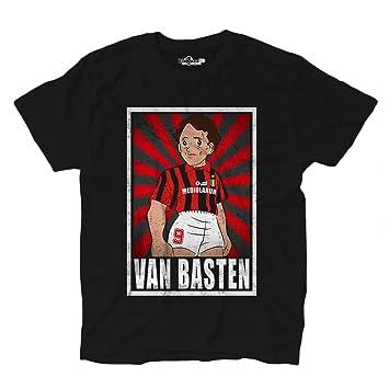 Camiseta de fútbol vintage de Van Basten, leyenda del Milan, parodia de Oliver y Benji: Amazon.es: Deportes y aire libre
