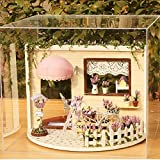 Kisoy Romantic and Cute Dollhouse Miniature DIY House Kit Creative Room Perfect DIY Gift Revolving Sky Garden for Friends, Lovers and Families (Lavendar Story) Plus Dust Proof Cover