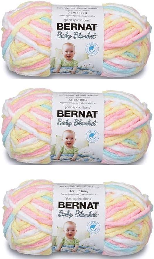 Each Each Pack Contains 2 Balls 100g BERNAT Baby Blanket Little Denim Prints