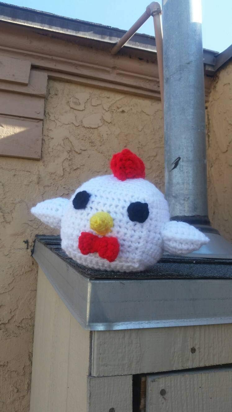 A Fancy Crocheted Plush Chicken with a Bowtie Baby Hentai