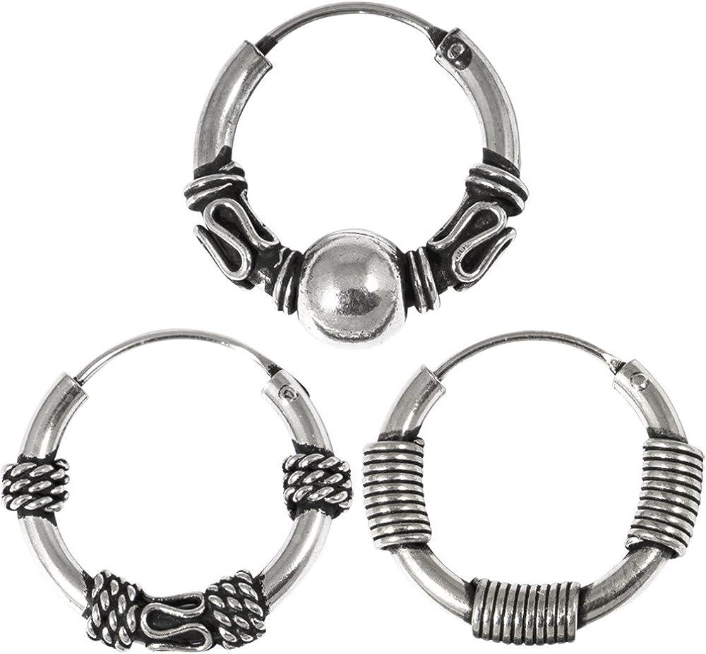 TDi Body Jewellery Tres de Plata de Ley Aros para el