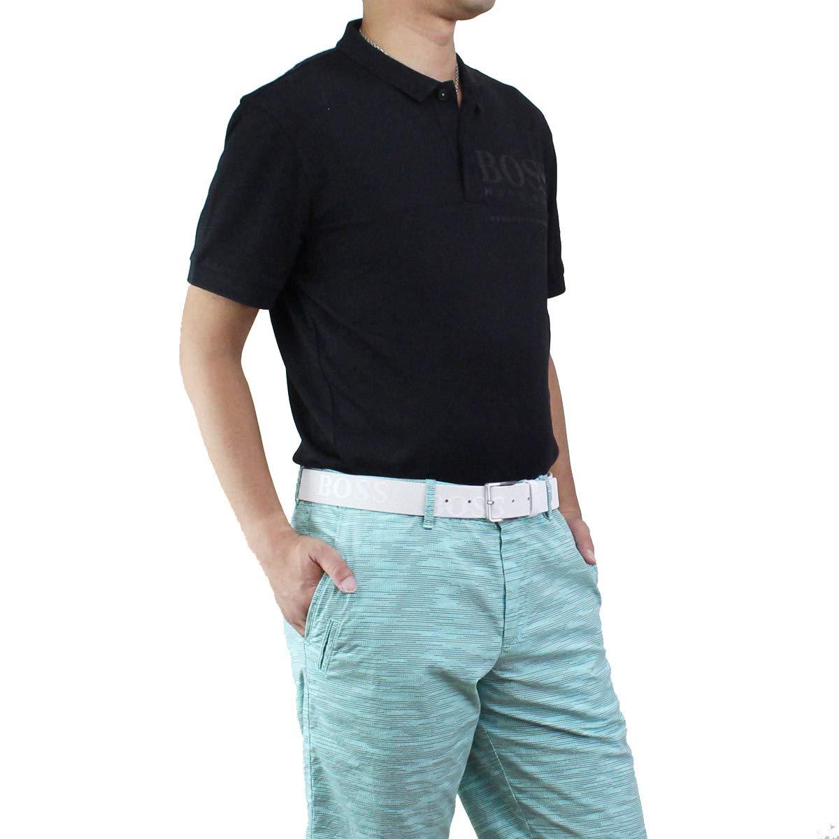 ヒューゴ ボス HUGO BOSS PL-TECH メンズ ロゴ入り ポロシャツ 半袖 ゴルフウェア 50399317 10208645 001 ブラック サイズ:#L [並行輸入品]   B07SPVZ62V