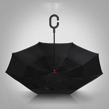 Plegables Paraguas Sombrilla para el Uso del Coche Sombrilla para el revés Sombrilla automática Completa Manos