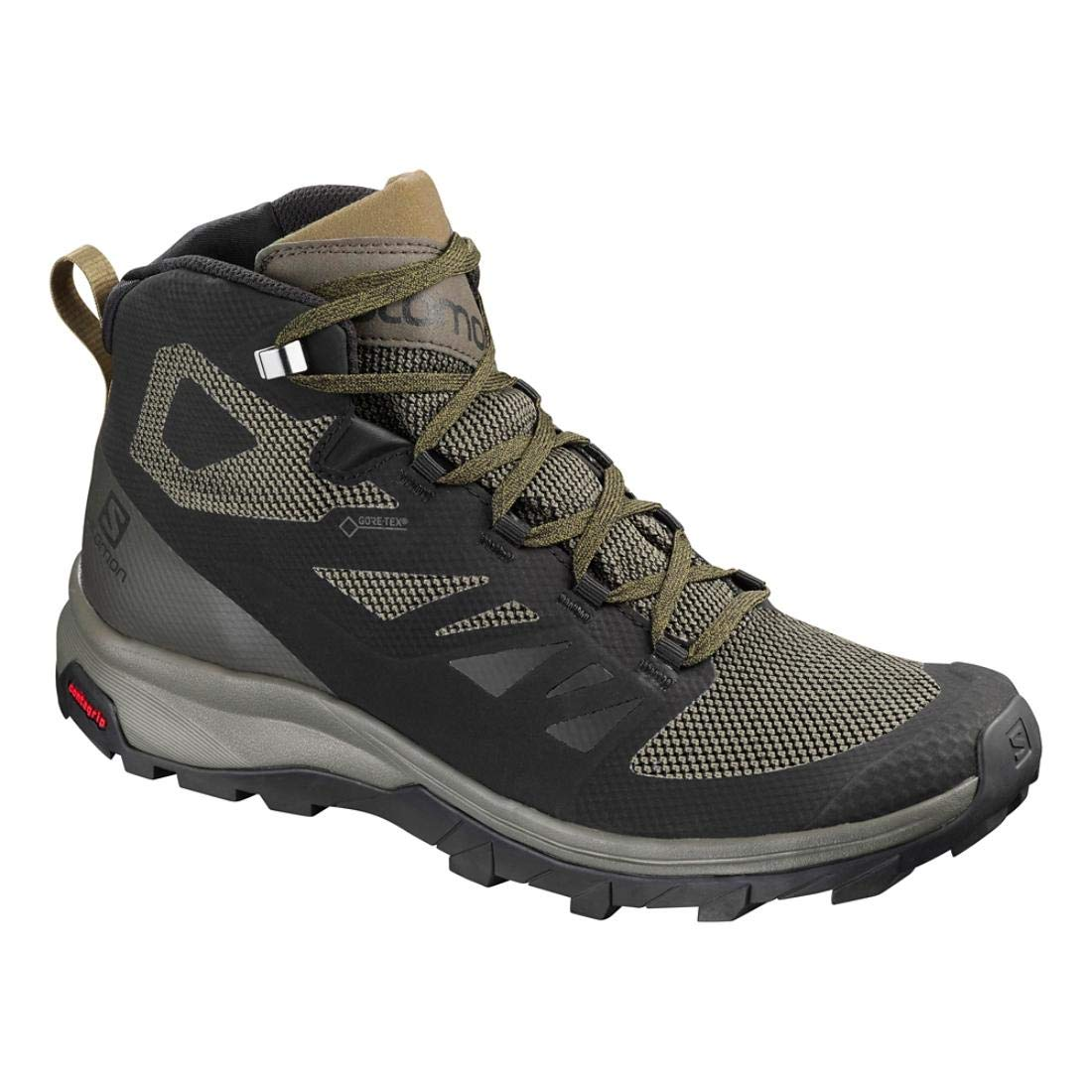 Salomon Outline Beluga Mid GTX Black Beluga Outline Capers 43 1/3 EU|Graphite-noir-gris 02d16c