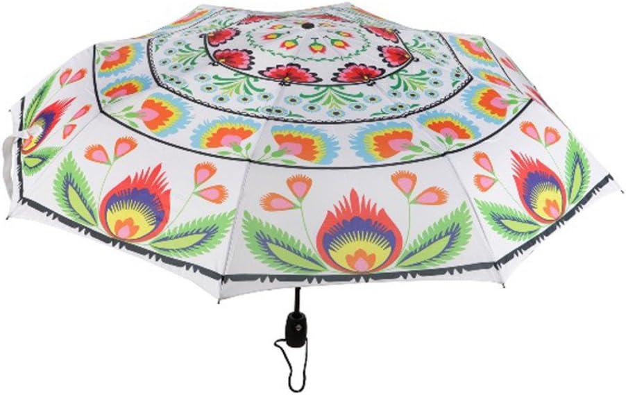 Wycinanki Lowicz White Folding Umbrella