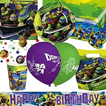 Tortugas Ninja Ultimate Fiesta Kit para 8: Amazon.es ...