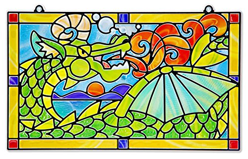 Melissa & Doug Stained Glass Made Easy Craft Kit: Dragon - 170+ Stickers - Stained Glass Art