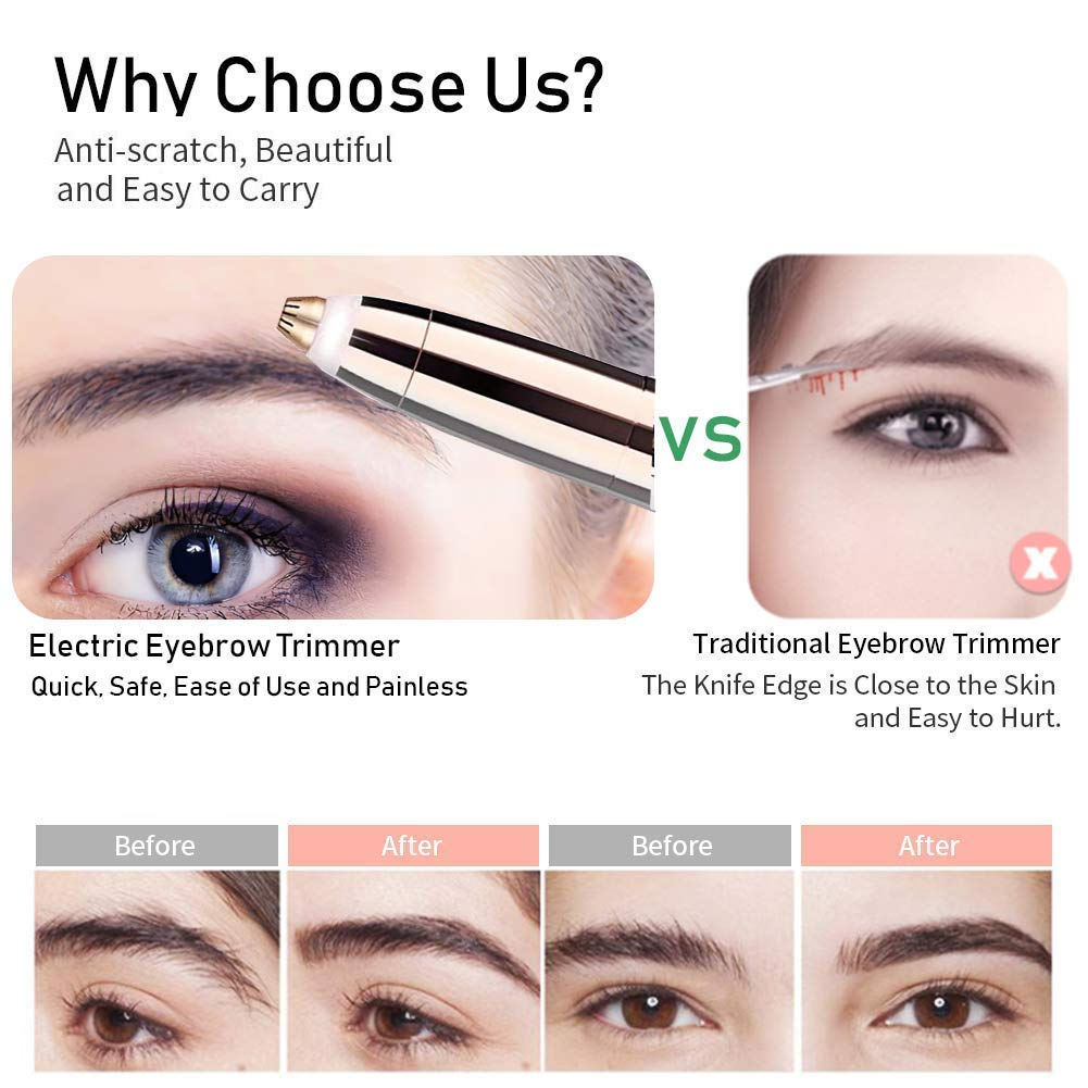 Rechargeable Eyebrow Hair Remover PainlessPrecision Eyebrow Trimmer Eyebrow Razor Tool For Face Lips