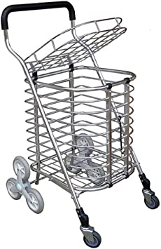 Carrito de compras Escalera que sube escaleras para comprar comida camión remolque Plegable carro de compras portátil carro pequeño carrito plato cesta Escalera de la carretilla para uso general escal: Amazon.es: Deportes