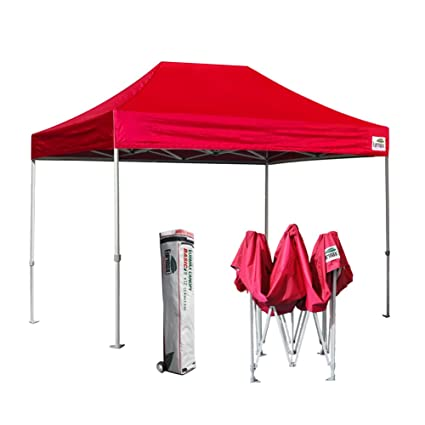 Eurmax Basic  Ez Pop Up Canopy Party Tent Commercial Level Deluxe Wheeled Storage