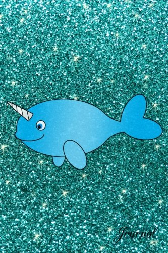 Read Online Journal: Faux turquoise glitter blue narwhal notebook pdf