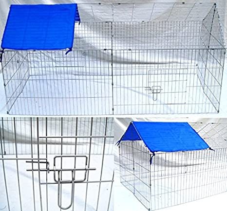 Zona de mascotas conejo jaula Run Pet Hutch Guinea Runs almacenaje ...