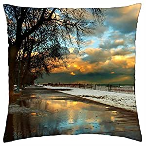 Chilly Beach–Throw Pillow Cover Case (16