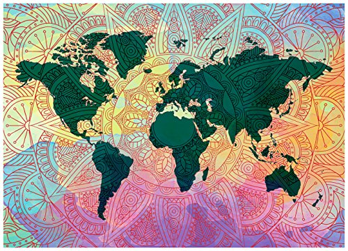 Famzzle collection 1000 piece jigsaw puzzles for adults famzzle collection 1000 piece jigsaw puzzles for adults difficult puzzle game with unique mandala world map vivid colorful and very bright puzzle will gumiabroncs Images