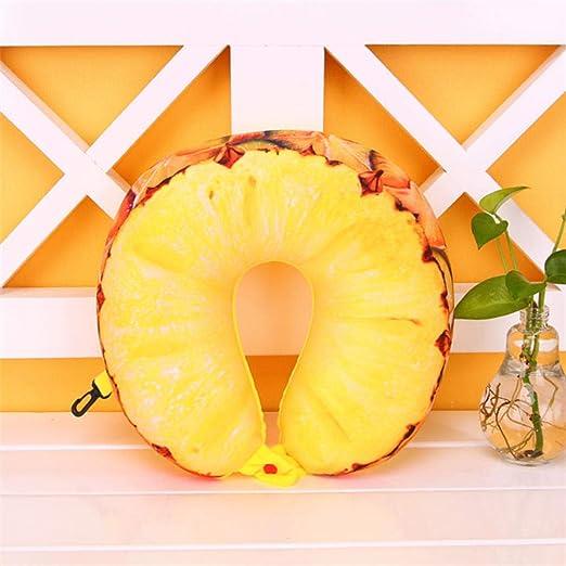 xikaiai Almohada En Forma De U De Fruta Proteger El Cuello ...